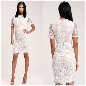 NWOT Lulus Kayleigh Lace Midi Dress